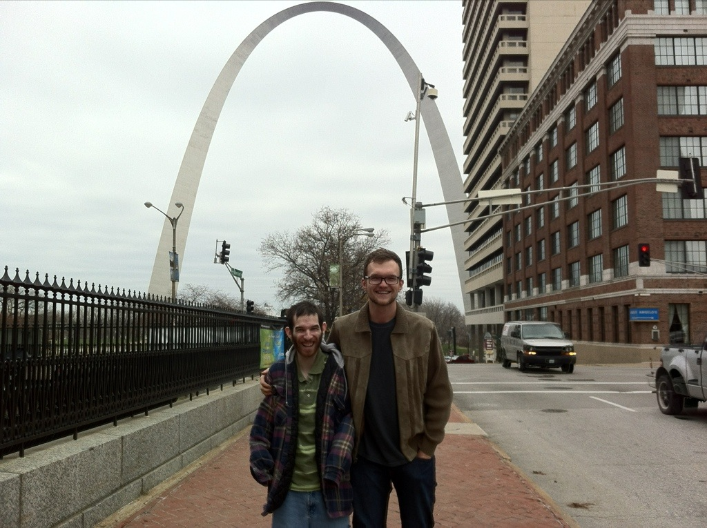 David and Brandon in St. Louis