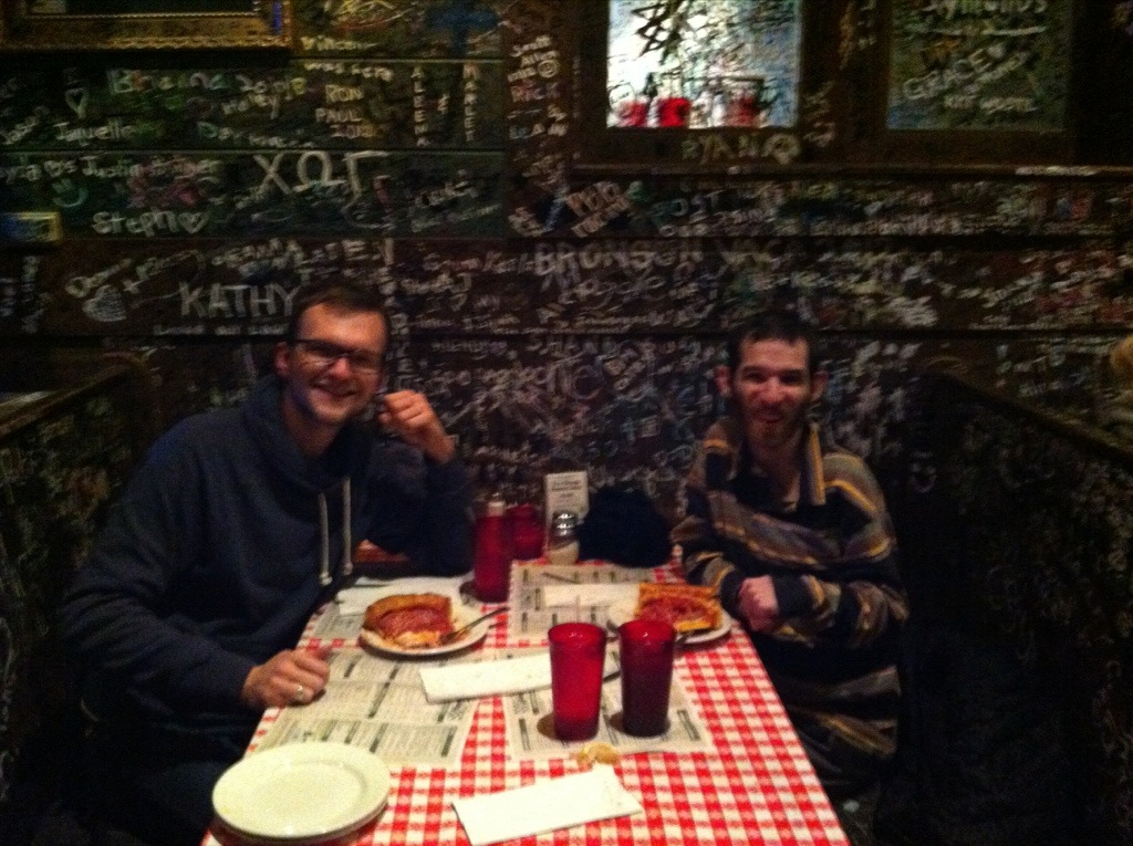 David and Brandon @ Gino's East Pizzeria