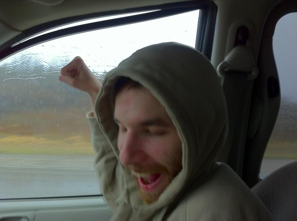 David and the rain