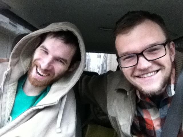 David and Brandon leaving Chicago